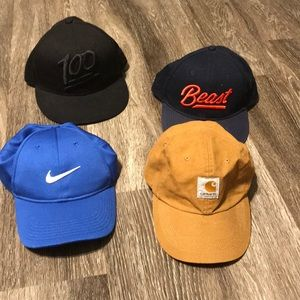 🔆LOT OF 4 adjustable youth hats